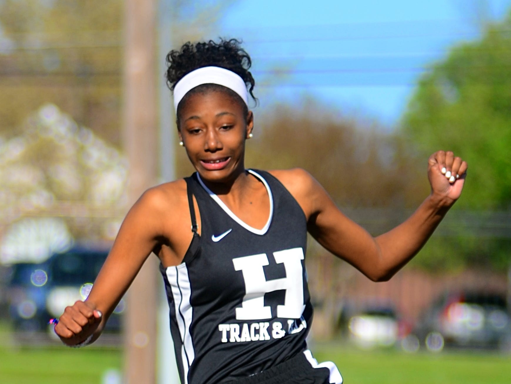 Hendersonville High sophomore Dee Gaston finished second in the girls' long jump with a best effort of 15 feet, 6 inches.