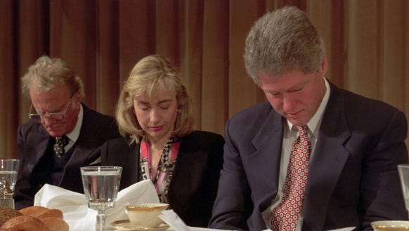 President Clinton and First Lady Hillary Clinton, along
