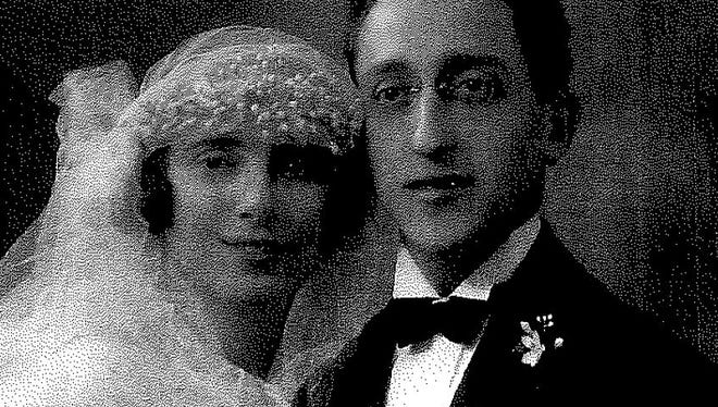 Maurice Padawar and Therese Kapeplovitch at their wedding in 1924.