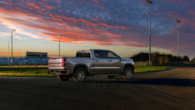 The all-new 2019 Silverado LT features chrome accents on the bumpers, front grille and mirror caps, a Chevrolet bowtie in the grille, LED reflector headlamps and signature daytime running lights. General Motors is selling more trucks this year than Ford.