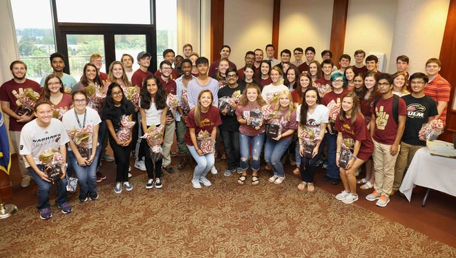 The University of Louisiana Monroe Office of Recruitment and Admissions hosted an ice cream social for select freshmen students on Thursday in honor of their outstanding high school test scores.