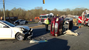 One person was taken to the hospital following a two-vehicle