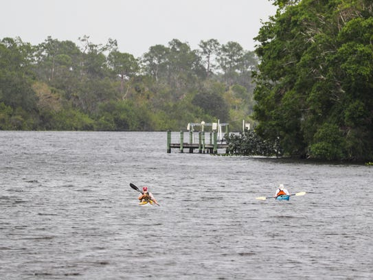 Locals enjoy using the river for kayaking and boating.