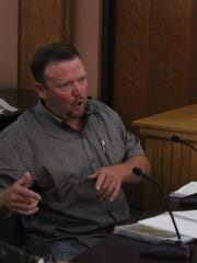 Cody Northcutt, who owns RV parks in Eddy County, discusses a possible ordinance, Sept. 7 at the Eddy County Administration Building.
