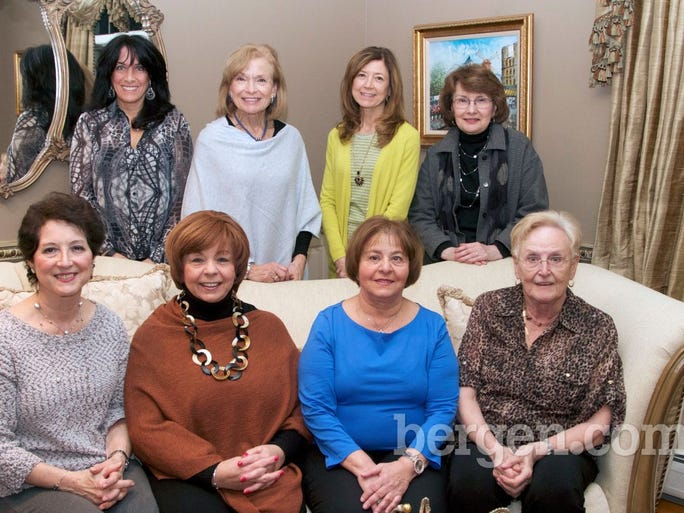 Katherine Grasso, Jane Kirsch Co-Chair, Jaonne Glock, Isabel Reddy; (back row) Catherine Abbott, Mary Sedminara Co-Chair, Nora McAvey, Elaine Arezzo (Photo by Richard Formicola)