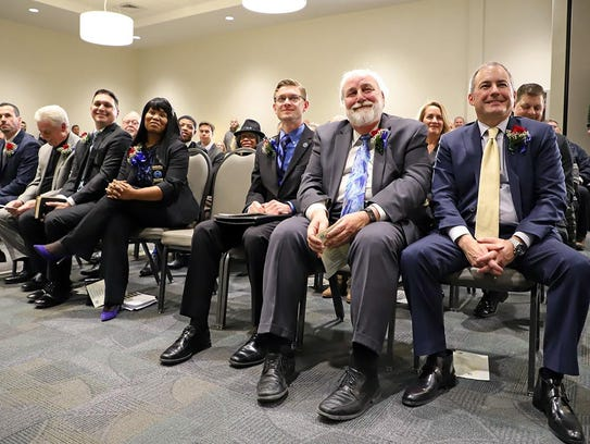 New, returning and outgoing Westland elected officials