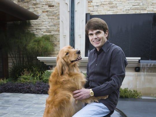 Author Dean Koontz with his dog, Anna.