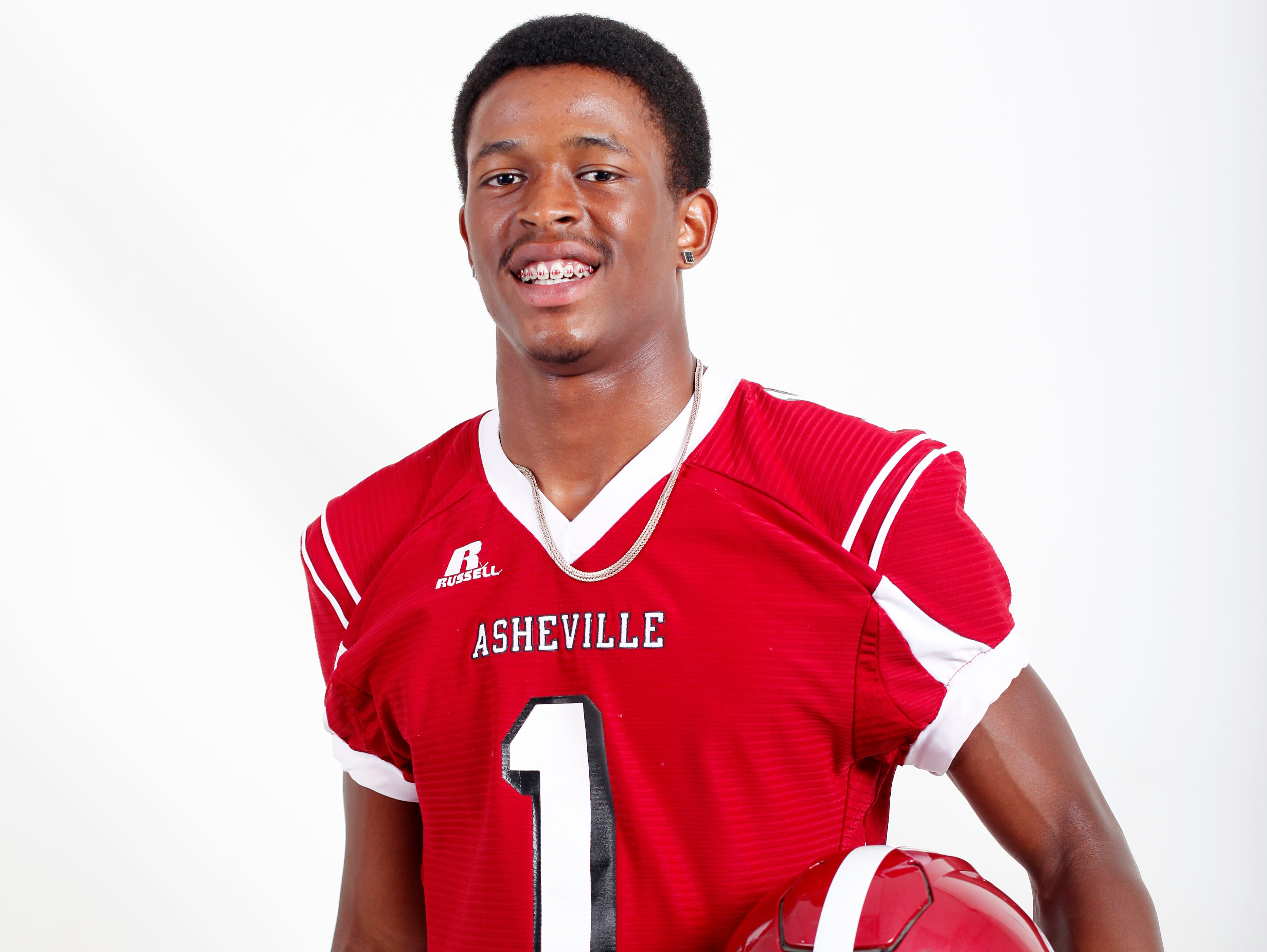 Asheville receiver Makaius Brewer is the Ingles athlete of the week.