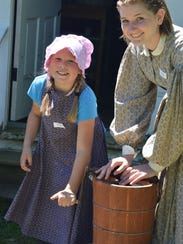 )  At Wade House's Dairy Day Celebration, hands-on