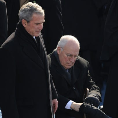 Former president George W. Bush and former vice president