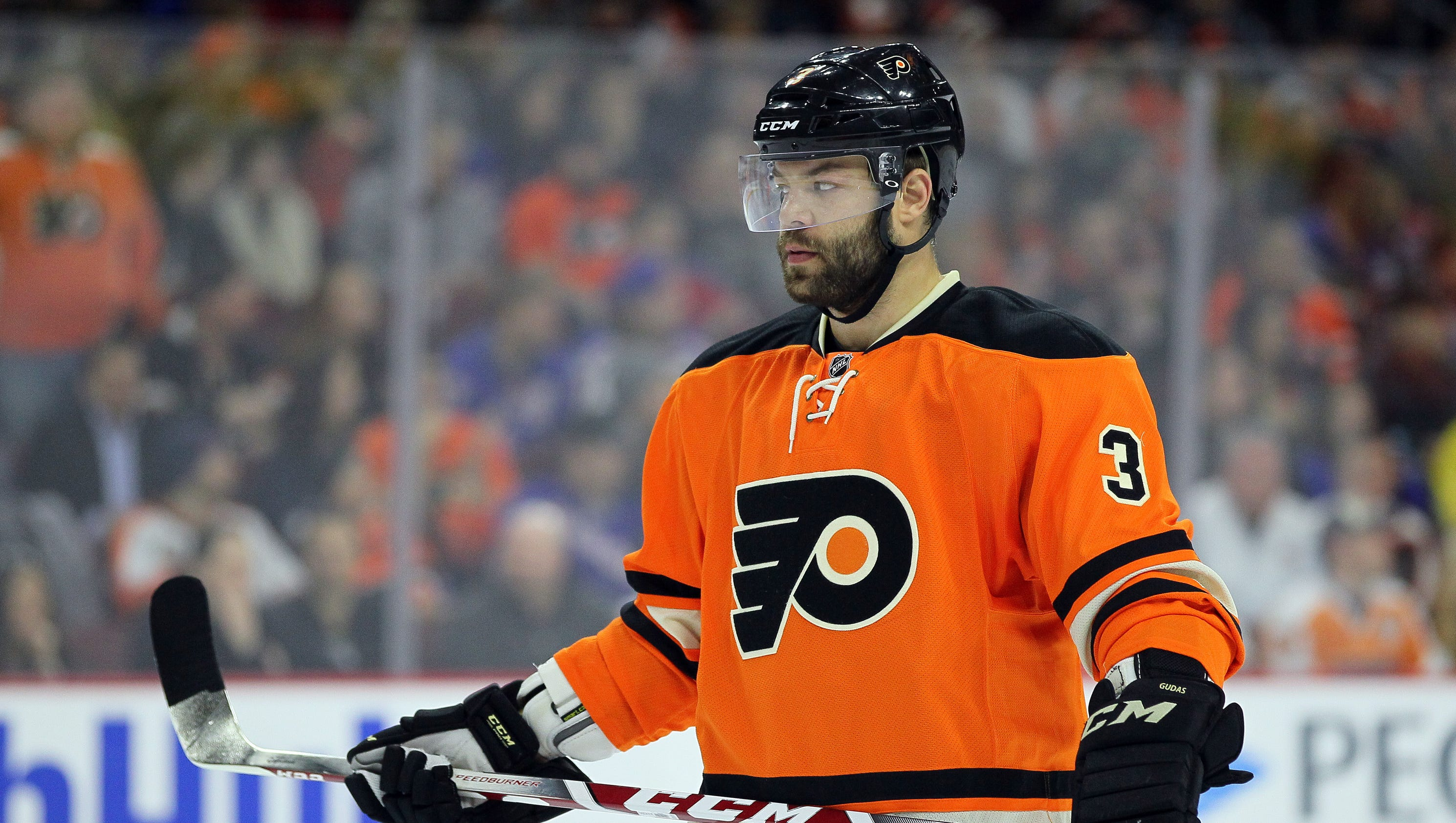 flyers u0026 39  radko gudas delivers questionable hit on rangers