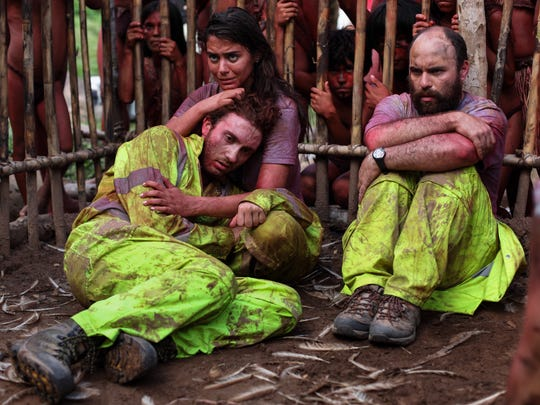 Daryl Sabara, Lorenza Izzo and Nicola´s Marti´nez in the motion picture 'The Green Inferno.'