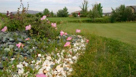 Small rocks are used for landscaping purposes around the golf course and putting greens at Red Hawk Resort.
