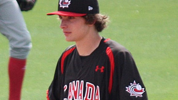 Quebec City prospect has signed with Auburn baseball after spending time with the Canadian Under-19 team.