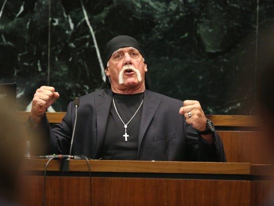Hulk Hogan, whose given name is Terry Bollea, testifies