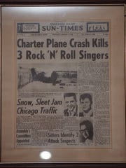 The Chicago Sun Times' coverage of the plane crash