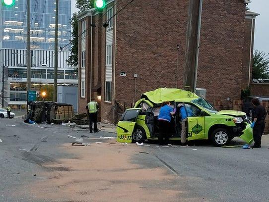 Crash that killed NashVegas Cab driver.