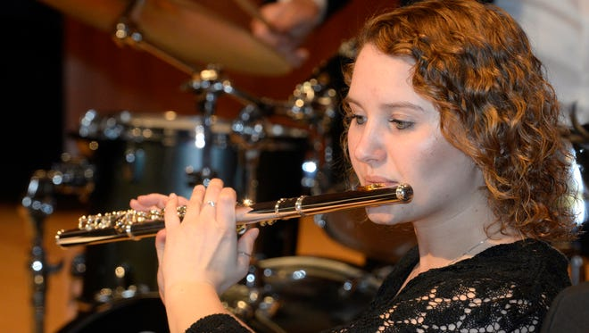 Silver Lake College student Molly Hahn plays flute in the SLC Jazz Ensemble. The group will perform in a concert on Feb. 27.