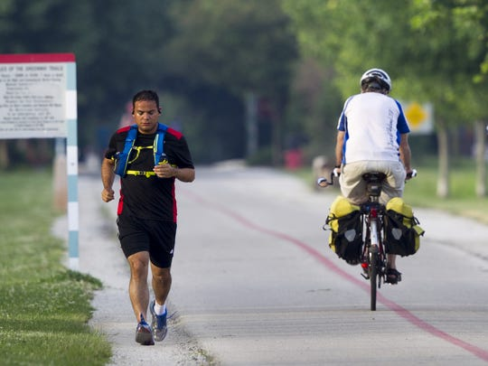 Oscar Clavel, Indianapolis, who's lost 40 pounds since