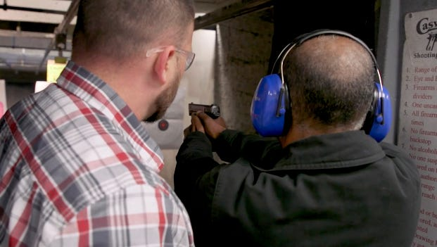 Three Arizona teachers take a gun-safety class, share ideas and fire weapons at Caswells Shooting Range in Mesa.