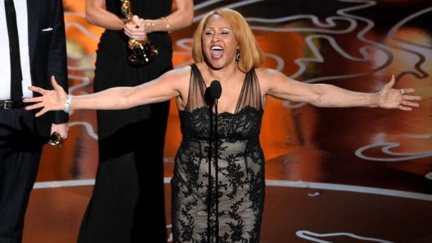 Singer Darlene Love accepts the Best Documentary, Feature award for '20 Feet from Stardom' onstage during the Oscars at the Dolby Theatre on March 2, 2014 in Hollywood, California.