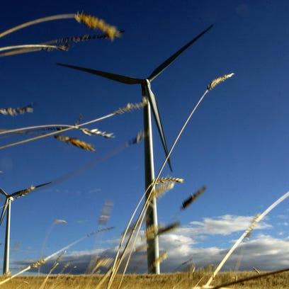 The Judith Gap wind farm in November 2006.