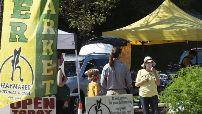 The Haymaker Farmers' Market takes place on Saturdays on Franklin Avenue in Kent.