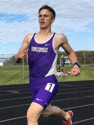 Fowlerville's Chris Davis won the 3,200-meter run in the CAAC White track and field meet. He was second in two other events.