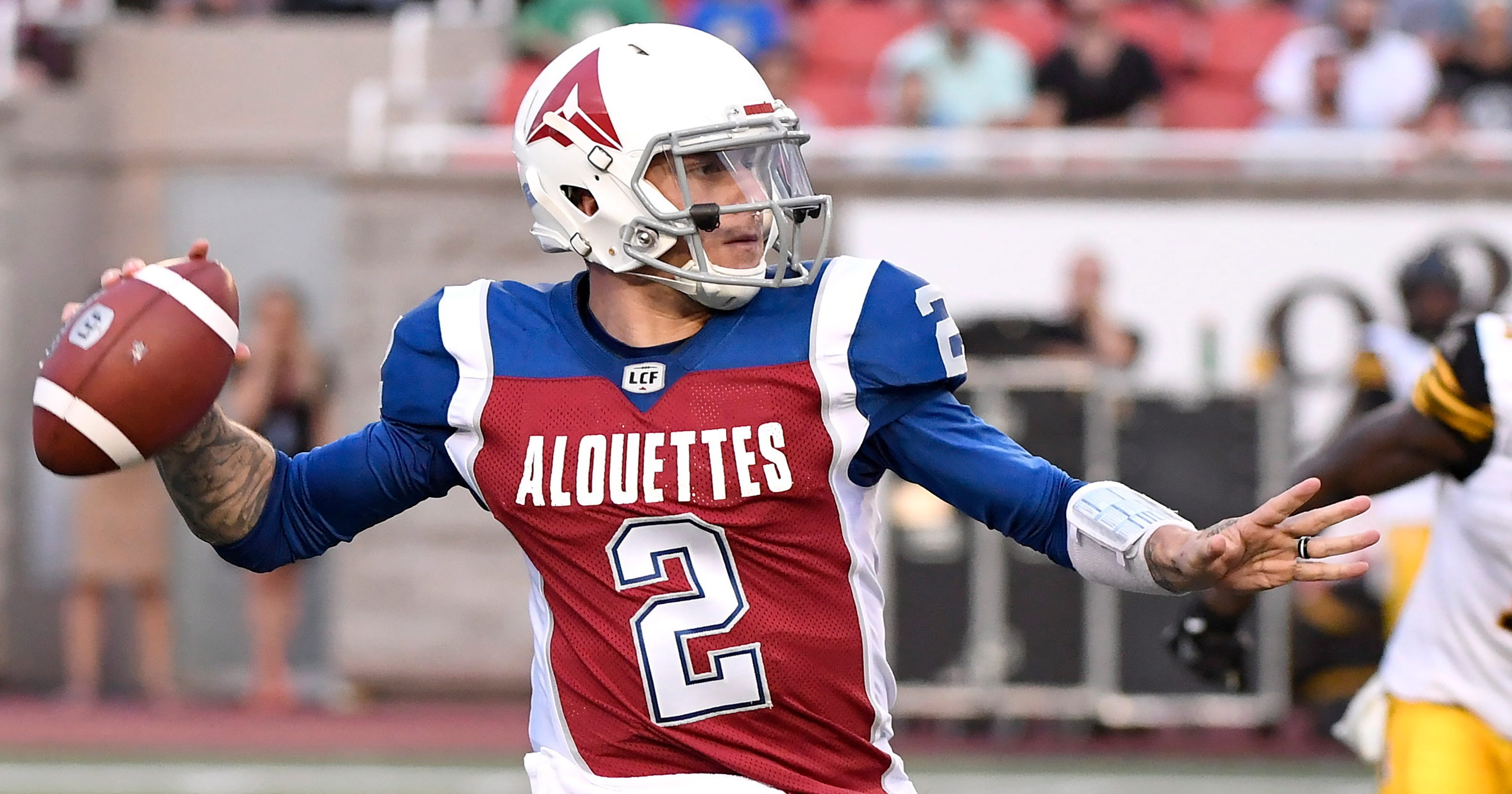 97d76a7b52 Johnny Manziel has rough CFL debut for Montreal Alouettes