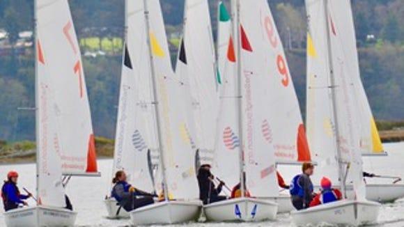 Bainbridge sailing teams compete in the Oak Harbor Regatta last weekend and placed third.