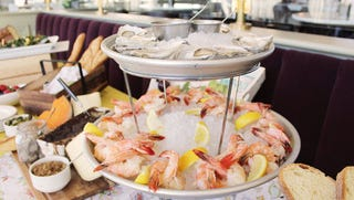 Cafe Grace in Wauwatosa is adding a table of items including seasonal salads, pastries and a seafood tower with oysters and shrimp to its Sunday brunch.