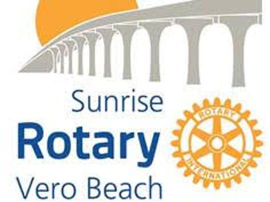 Vero Beach Sunrise Rotary logo