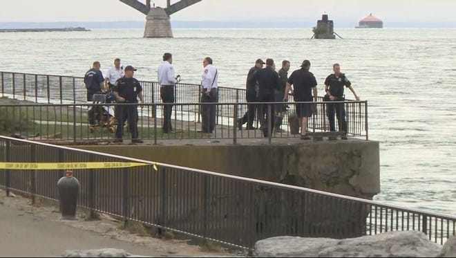 Buffalo Police dive team is searching for a missing person in the Niagara River.