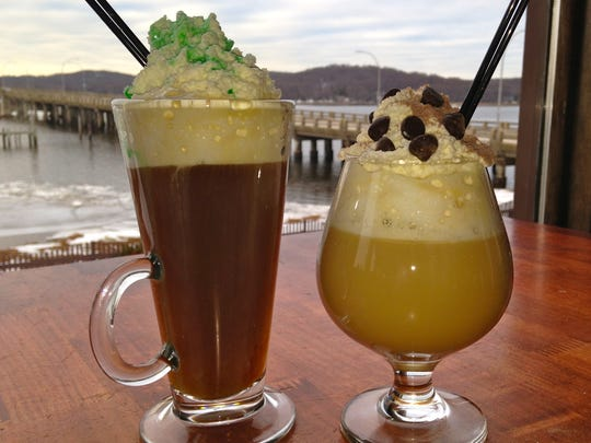 Irish coffee (left) and the Chip Shot at Salt Creek
