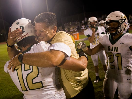 Scenes from the second half as St. John Neumann defeats Community School of Naples, 27-13, to start 6-0 for the first time since football was reinstated at the school in 2001 Friday, October 20, 2017 in Naples.