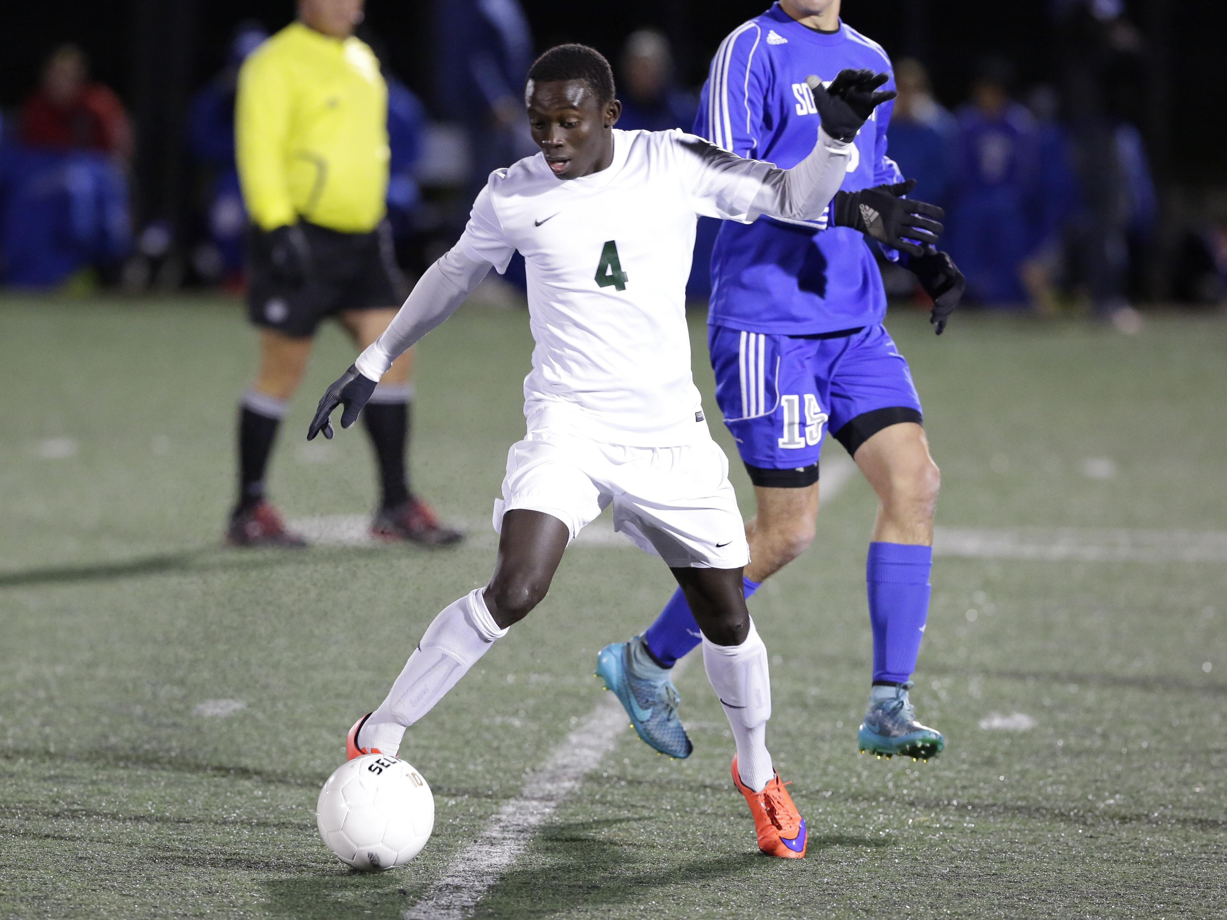 Oshkosh North's Lamin Jarju scored 27 goals this season and tallied nine assists as he helped the Spartans reach the sectional final game – the first time that's ever happened.