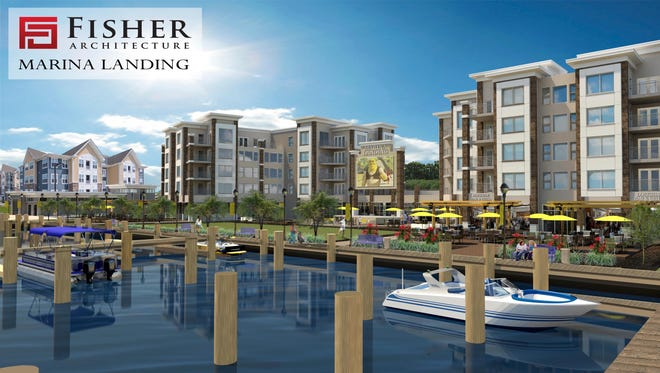 Marina Landing at the Port of Salisbury Marina will be developed by Salisbury Development Group with retail spaces and restaurants on the ground level and 55 apartments above.