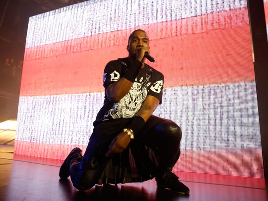 AUSTIN, TX - MARCH 12:  Kanye West performs onstage as Samsung Galaxy presents JAY Z and Kanye West at SXSW on March 12, 2014 in Austin, Texas.  (Photo by Rick Kern/Getty Images for Samsung)