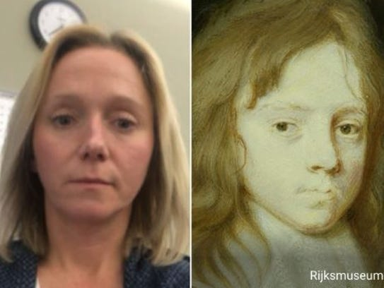 """Reporter Jackie Rehwald does not see the resemblance to """"Zombie Baby,"""" also known as Willem II."""