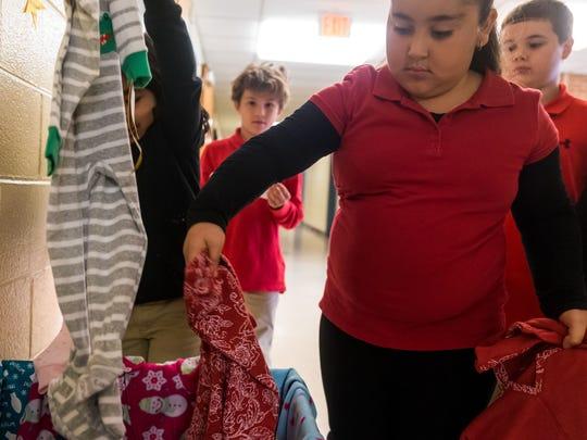 D'Ippolito third graders Amelia Gomez and Gianna Rodriguez