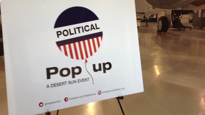 The Desert Sun hosts a political pop up at the Palm Springs Air Museum on Saturday.