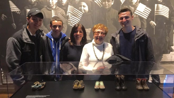 On April 30, Dotty Epstein of Metuchen and members of her immediate family headed to Ellis Island to mark the 100th anniversary of their ancestors' arrival in America.