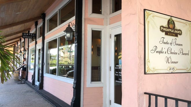 Casual chic with old Florida charm, Pineapple Jack's Bistro is in downtown Jensen Beach in the historic Ricou building, which also houses the Jensen Beach Inn.