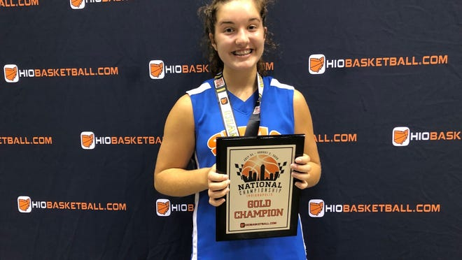 Aurora native Kara Courtad helped her Score More Athletic Club Attack 2024 girls basketball team win a national championship Sunday in Indianapolis.