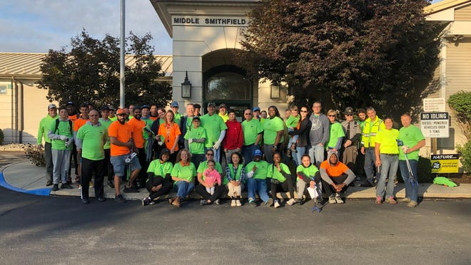 In 2019, 375 volunteers with the spring and fall 1000 Feet of Street and Adopt a Road programs cleaned 154 miles of roadside (or 76 miles of road, both sides) in Middle Smithfield Township including Route 209, Wooddale Road, Sellersville Drive, Pocono Wild Haven Estates, among others and filled hundreds of bags of trash. PHOTO PROVIDED