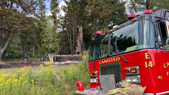The Canisteo Fire Department responded to Ells Road in the Town of Hartsville Sunday afternoon, discovering a home owned by the Bill Pullman Trust had burned to the ground.