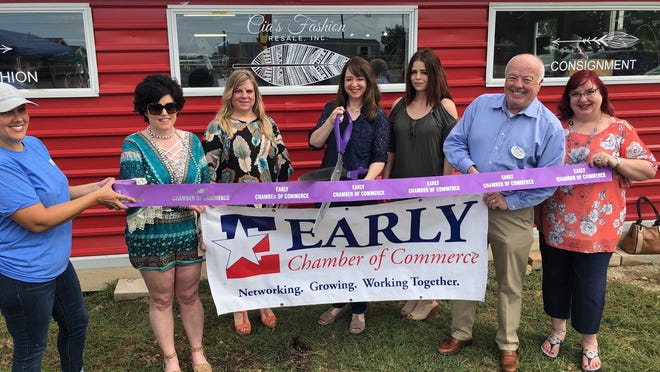 The Early Chamber of Commerce held a ribboncutting for Cia's Fashion Resale on June 20, 2020.Stop by and see their selection at 1216 EarlyBlvd.