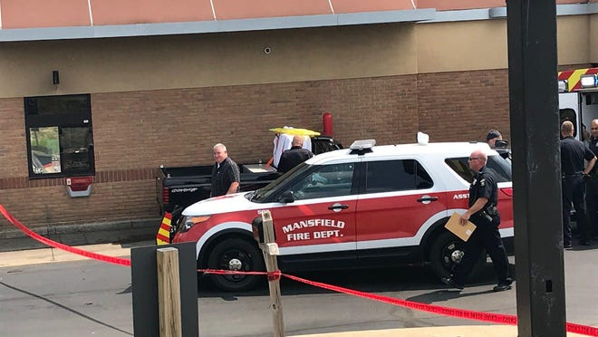A 69-year-old Mansfield man was pronounced dead Wednesday afternoon in the drive-thru of the McDonald's on Trimble Road.