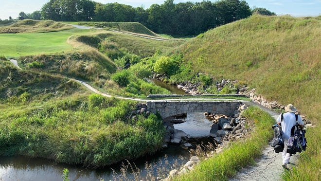 This is part of the spectacular layout of the Whistling Straits golf course that Stephenville's Tyler Lane was able to experience Saturday.