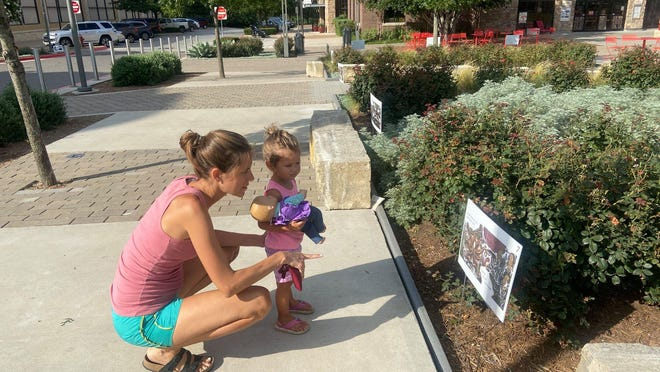 The Bee Cave Library's StoryWalks is a read-along experience on the central plaza at the Galleria.